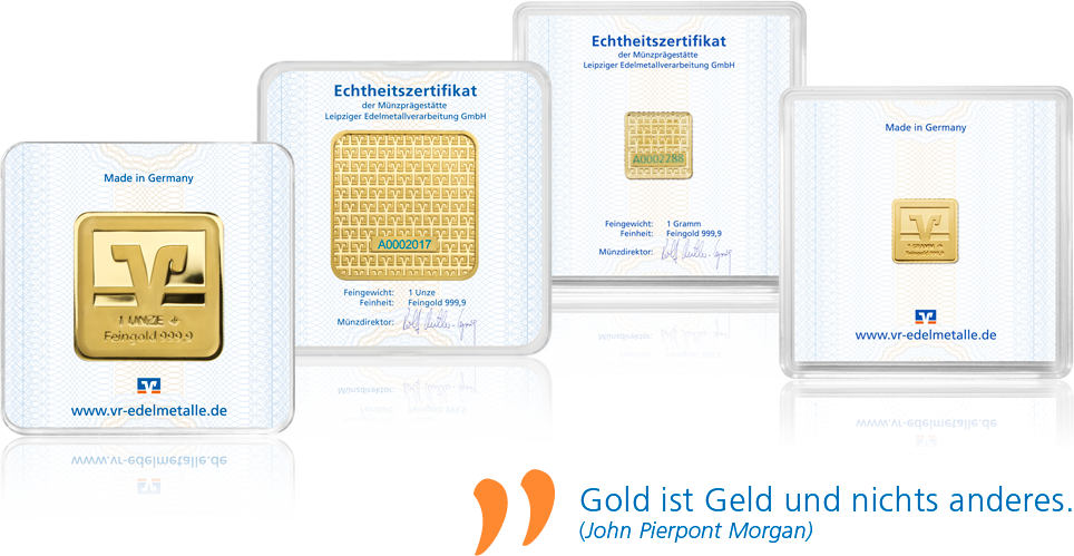 Volksbank Goldbarren