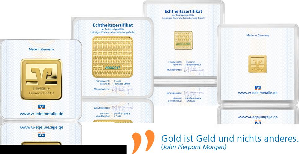 Volksbank Goldbarren